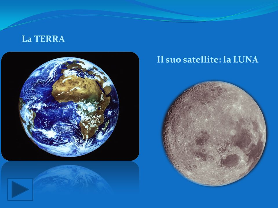 La TERRA Il suo satellite: la LUNA