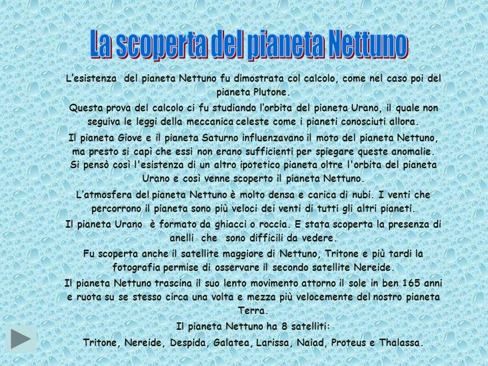 Il pianeta Nettuno ha 8 satelliti: