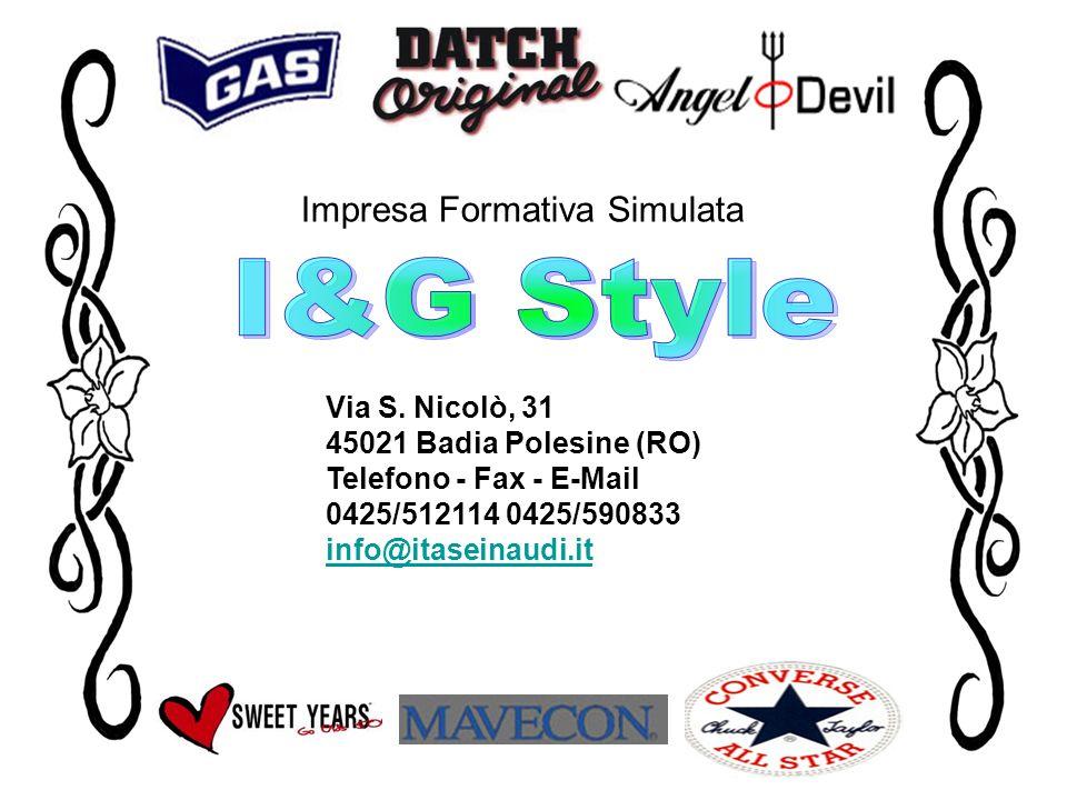 I&G Style Impresa Formativa Simulata Via S. Nicolò, 31