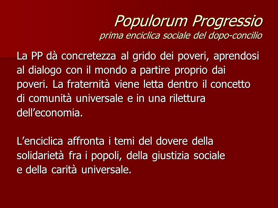 Populorum Progressio prima enciclica sociale del dopo-concilio