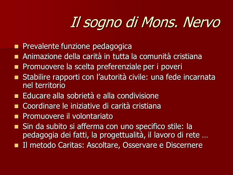Il sogno di Mons. Nervo Prevalente funzione pedagogica