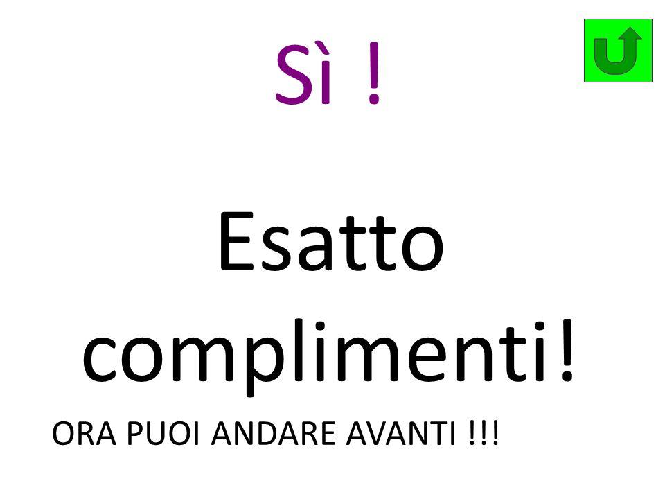 Sì ! Esatto complimenti! ORA PUOI ANDARE AVANTI !!!
