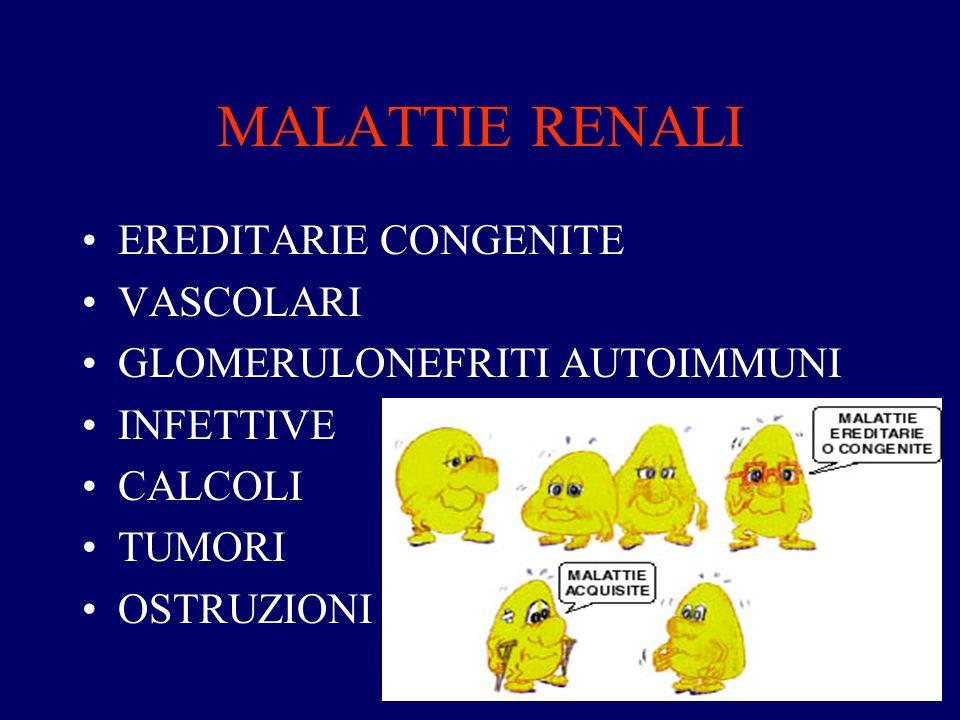 MALATTIE RENALI EREDITARIE CONGENITE VASCOLARI
