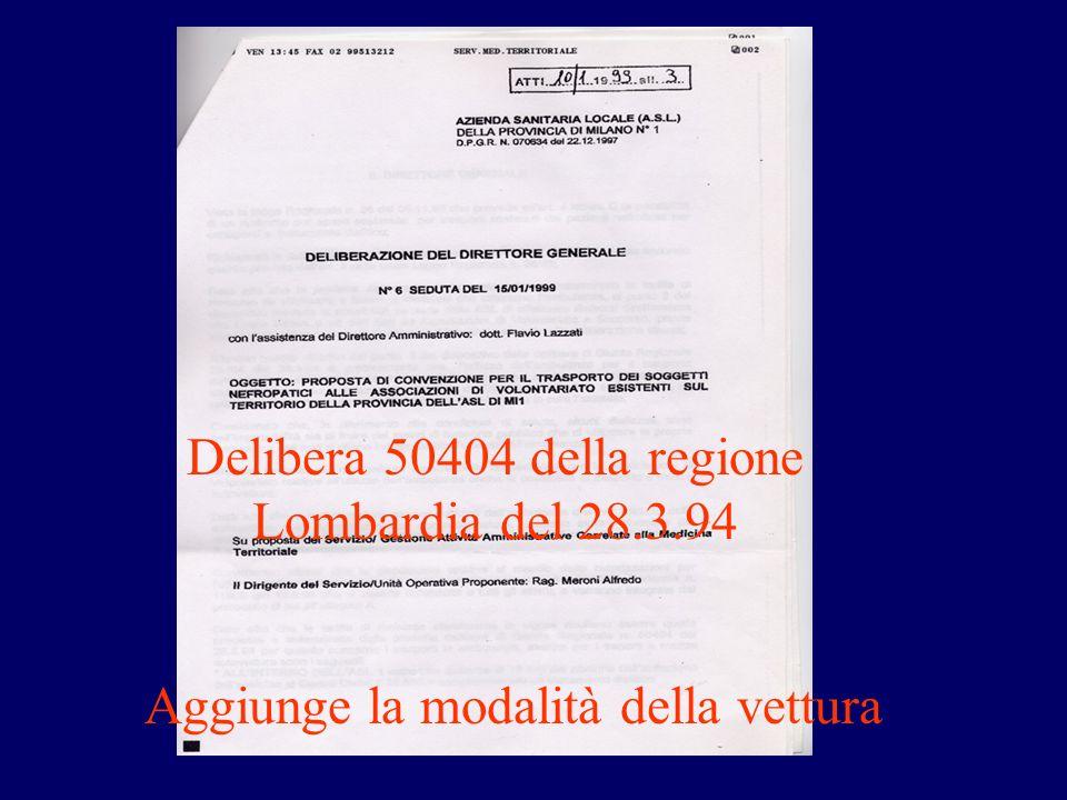 Delibera 50404 della regione Lombardia del 28.3.94