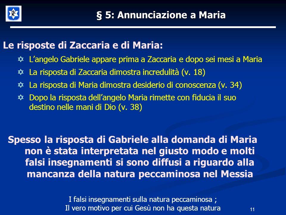 § 5: Annunciazione a Maria