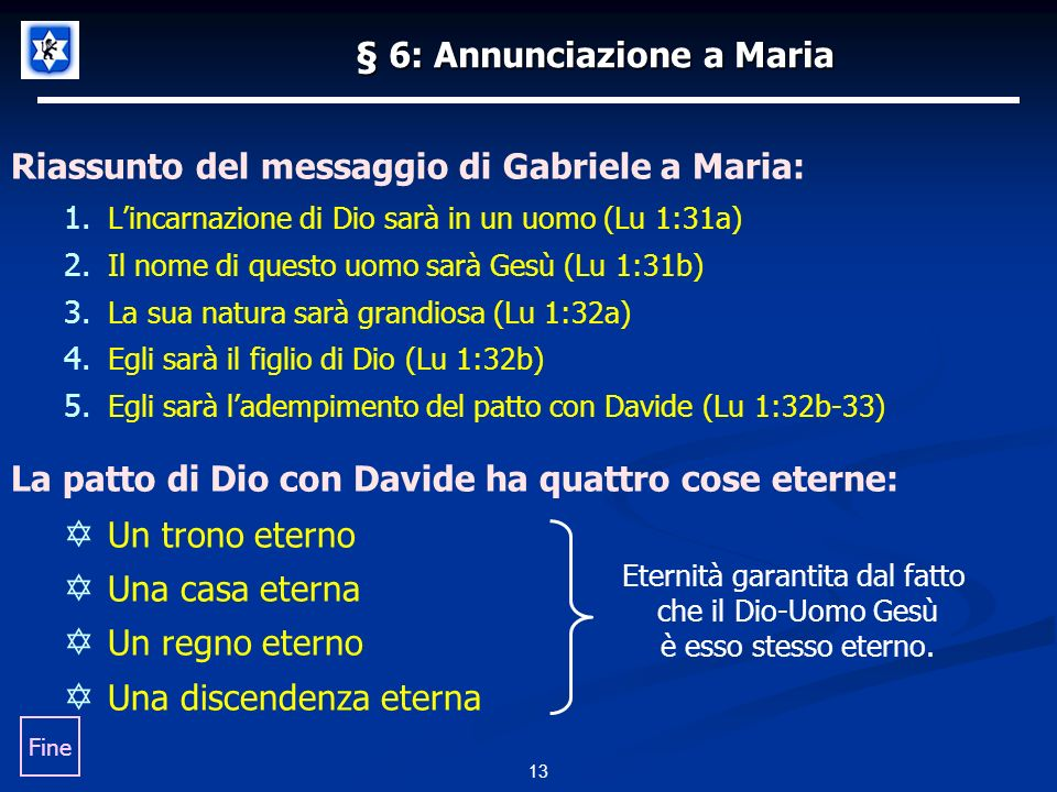 § 6: Annunciazione a Maria