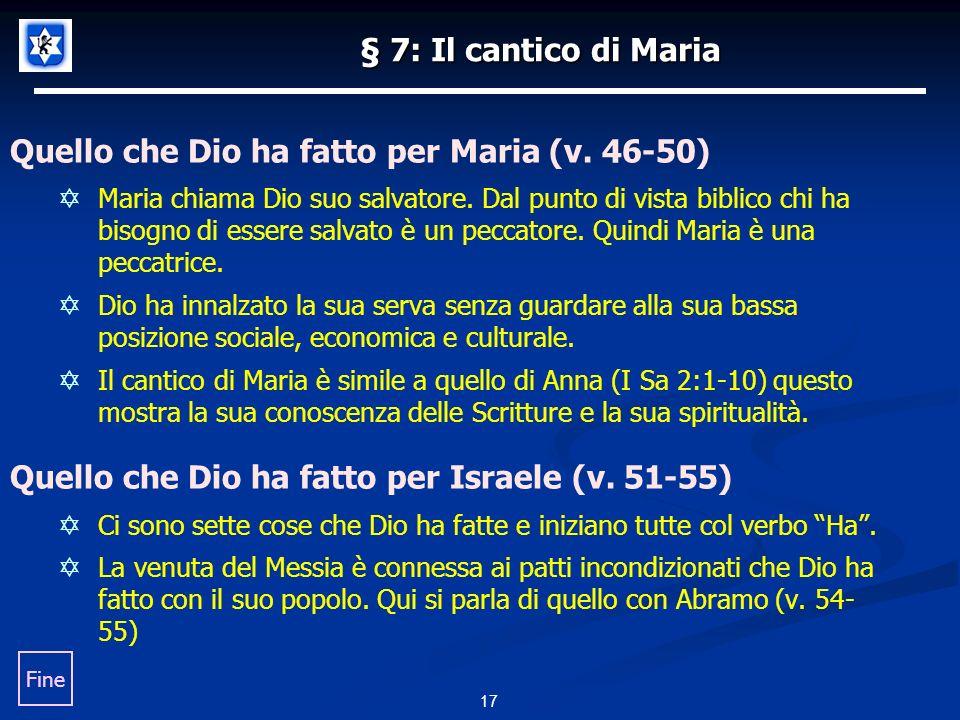 Quello che Dio ha fatto per Maria (v. 46-50)