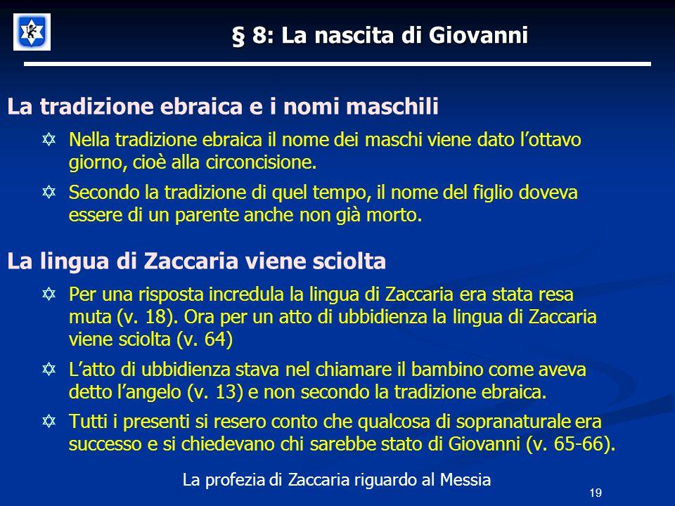 § 8: La nascita di Giovanni