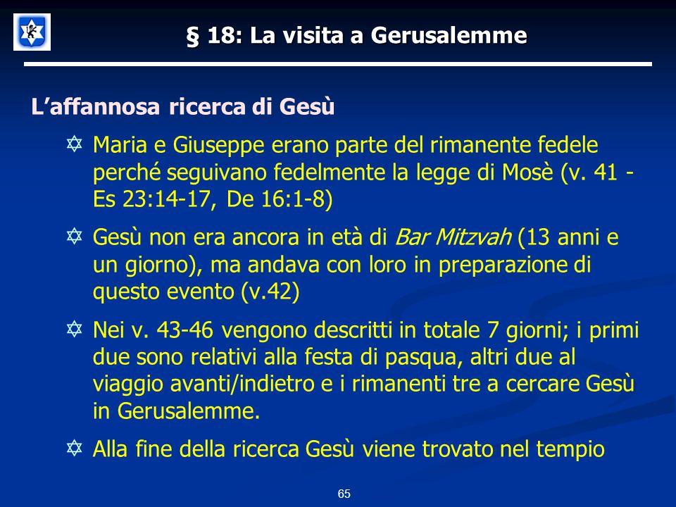 § 18: La visita a Gerusalemme