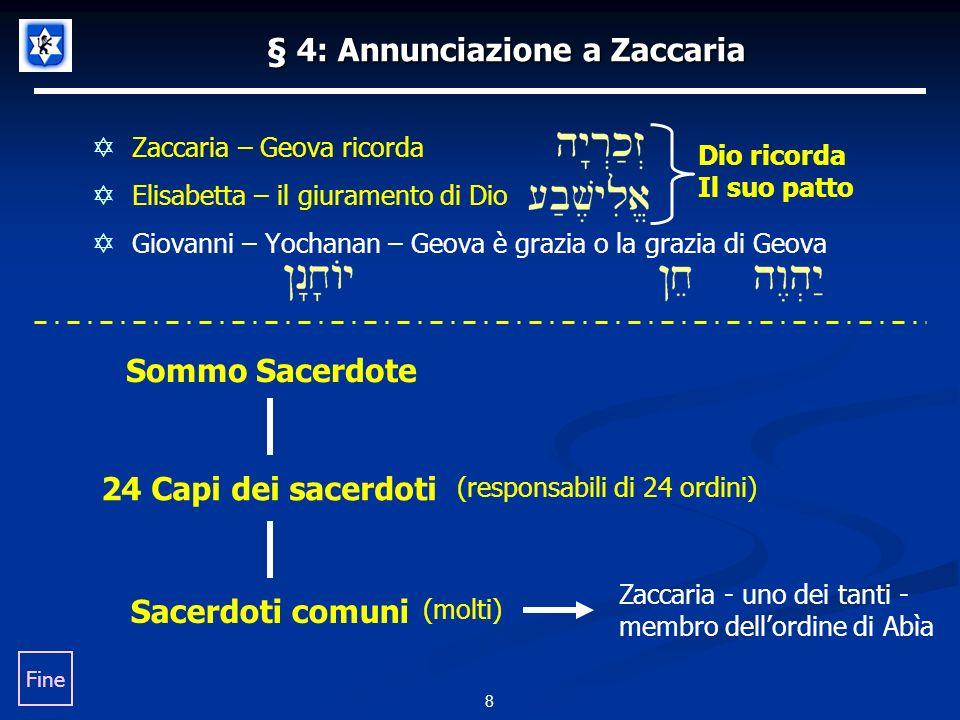 § 4: Annunciazione a Zaccaria