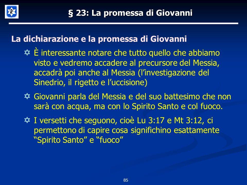 § 23: La promessa di Giovanni