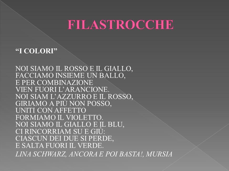 FILASTROCCHE I COLORI