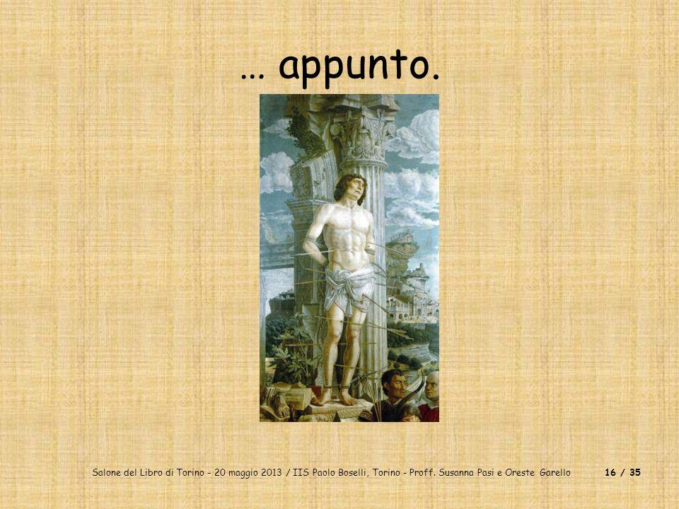 … appunto. Salone del Libro di Torino - 20 maggio 2013 / IIS Paolo Boselli, Torino - Proff.