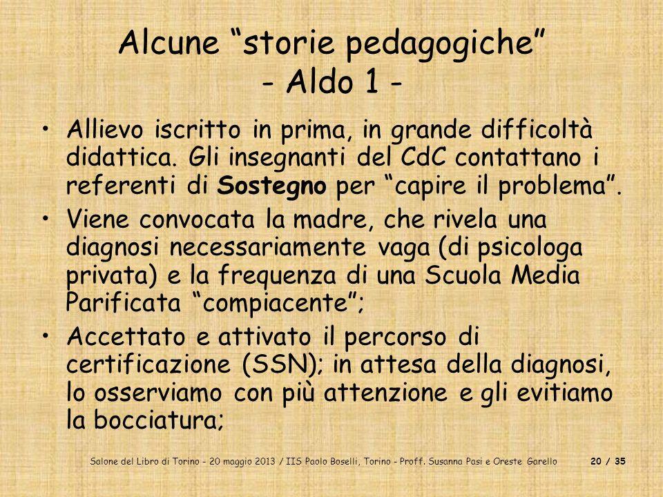 Alcune storie pedagogiche - Aldo 1 -