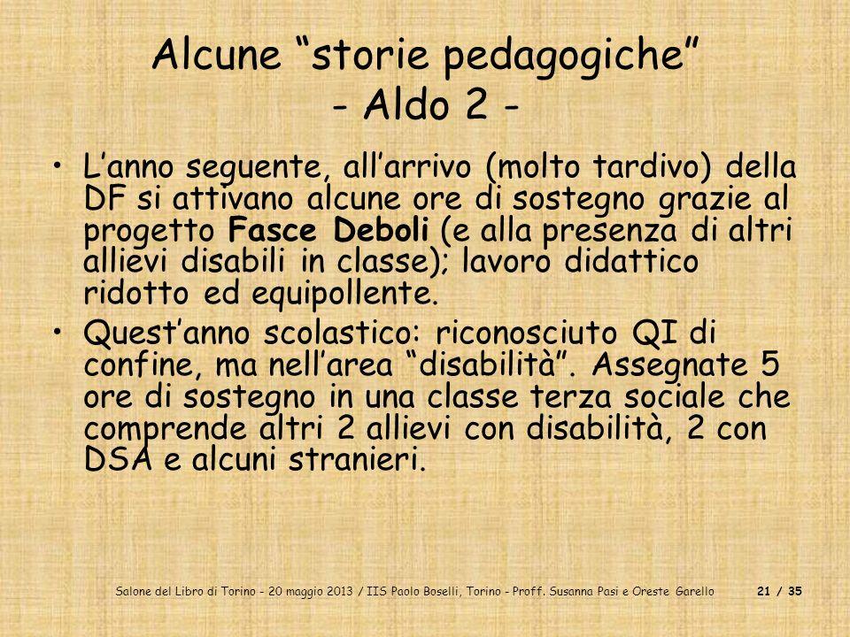 Alcune storie pedagogiche - Aldo 2 -