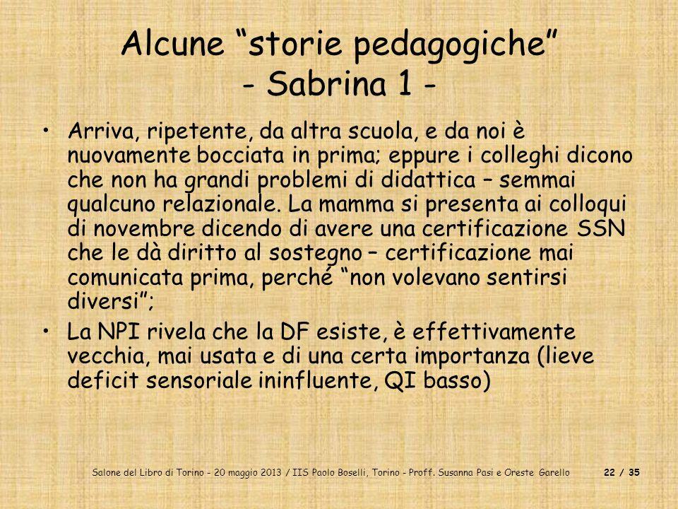 Alcune storie pedagogiche - Sabrina 1 -