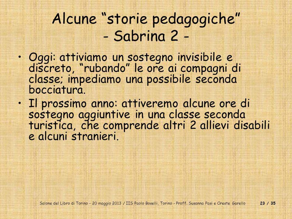 Alcune storie pedagogiche - Sabrina 2 -