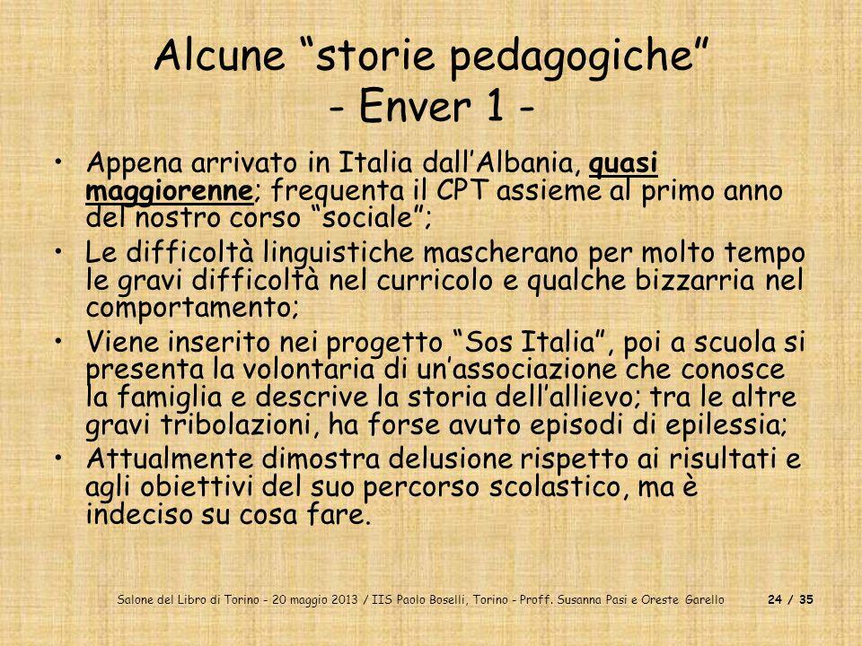 Alcune storie pedagogiche - Enver 1 -
