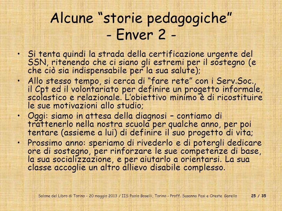 Alcune storie pedagogiche - Enver 2 -