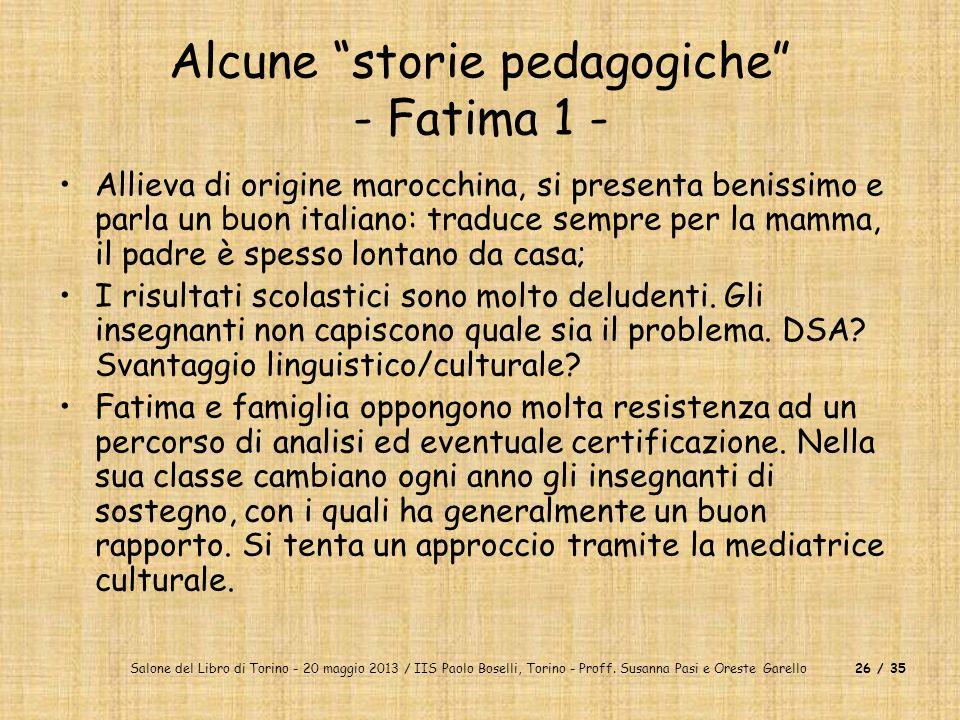 Alcune storie pedagogiche - Fatima 1 -