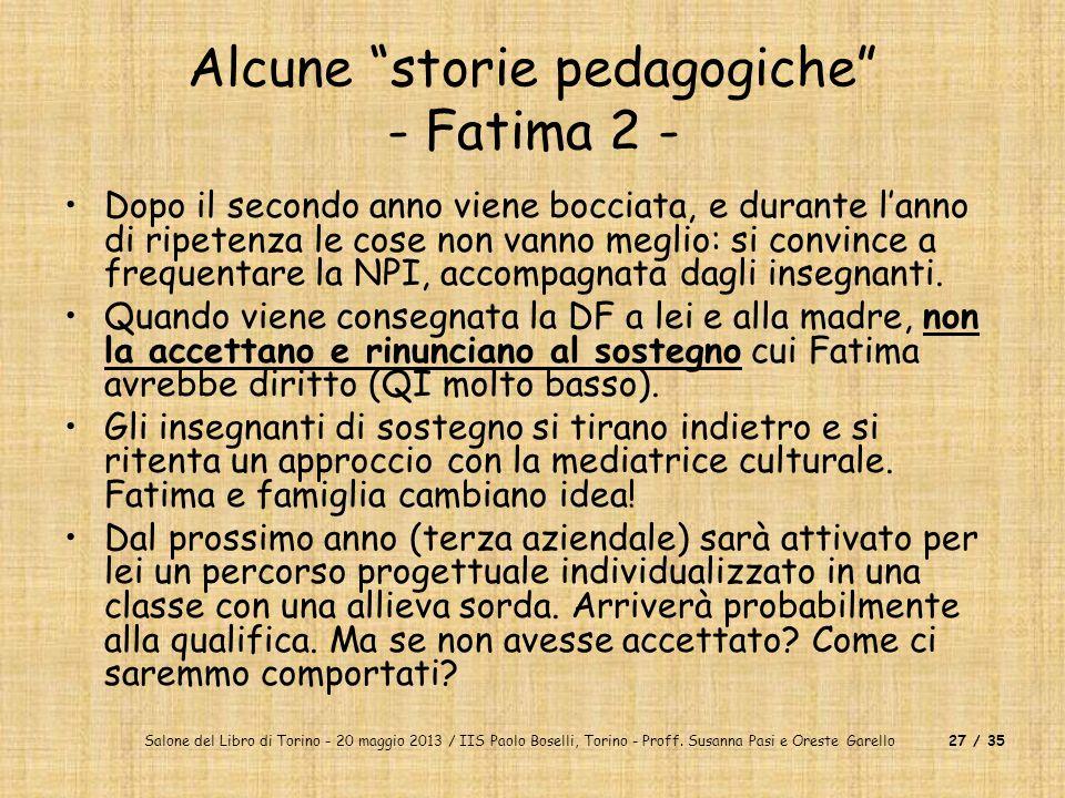 Alcune storie pedagogiche - Fatima 2 -