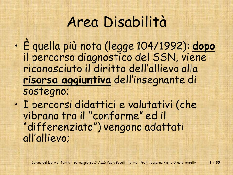 Area Disabilità