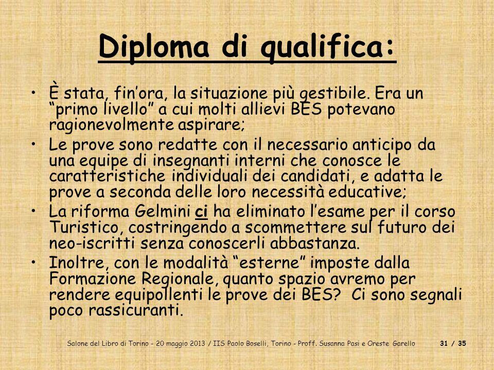 Diploma di qualifica: