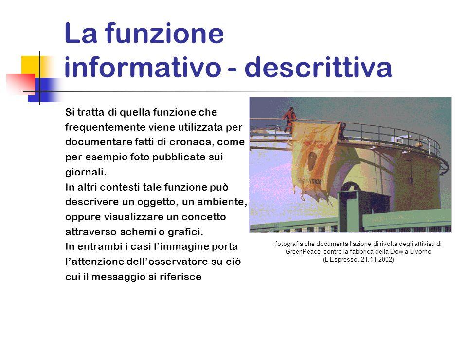 La funzione informativo - descrittiva