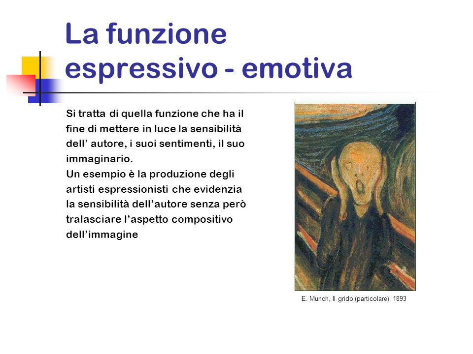 La funzione espressivo - emotiva