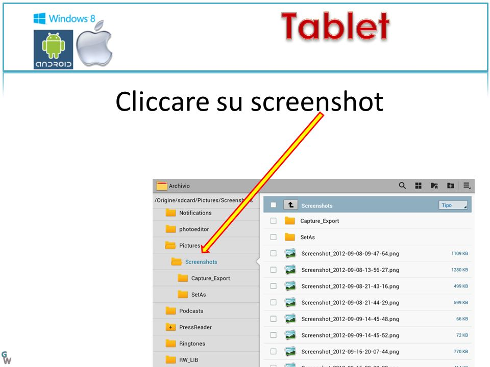 Cliccare su screenshot