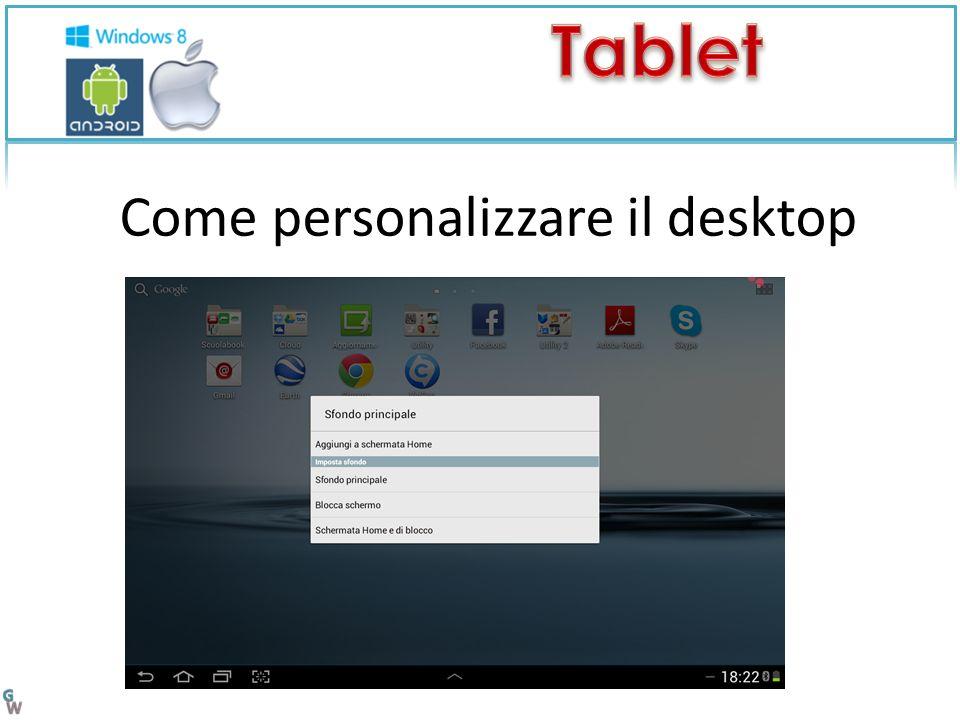 Come personalizzare il desktop
