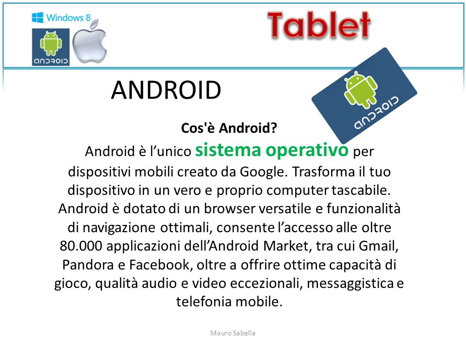 ANDROID Cos è Android