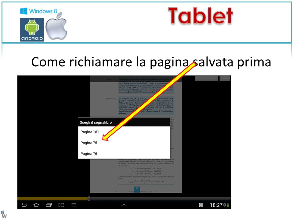 Come richiamare la pagina salvata prima