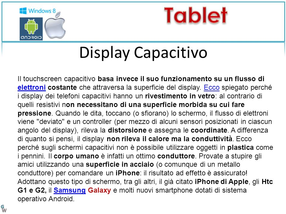 Display Capacitivo