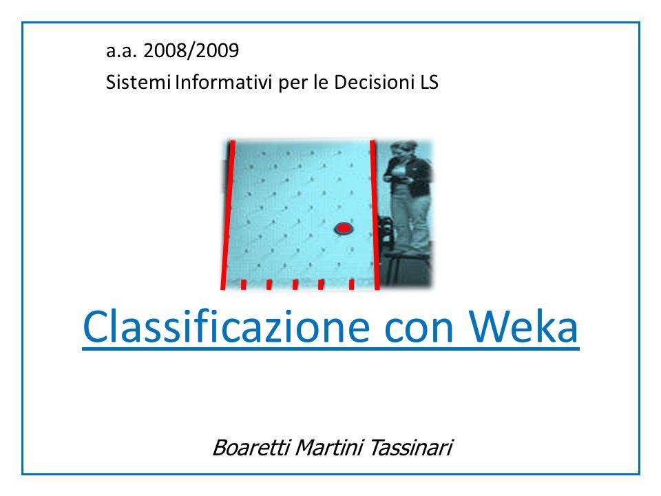 Classificazione con Weka