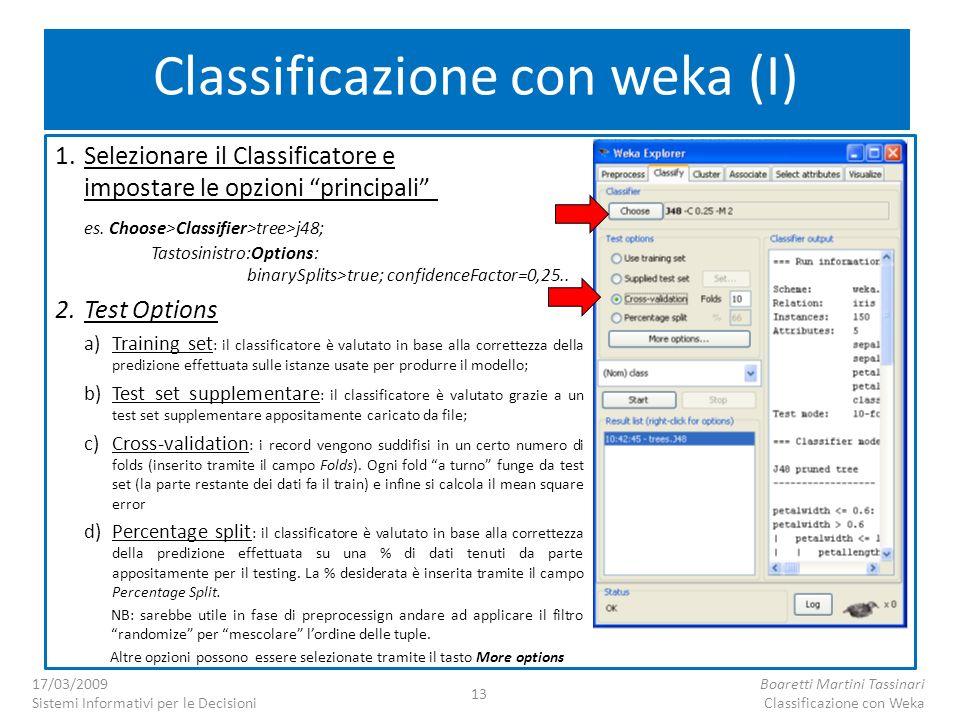 Classificazione con weka (I)