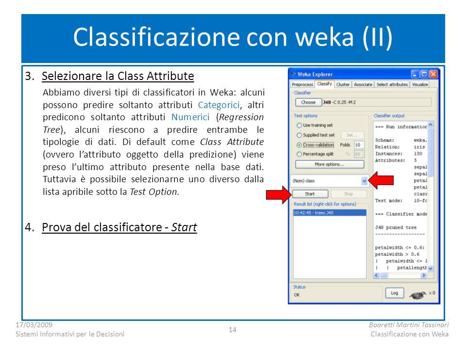 Classificazione con weka (II)
