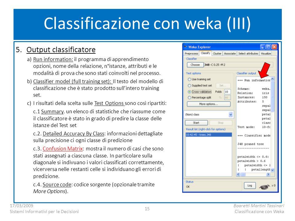 Classificazione con weka (III)