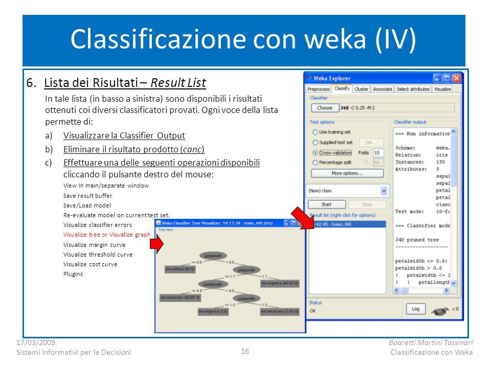 Classificazione con weka (IV)