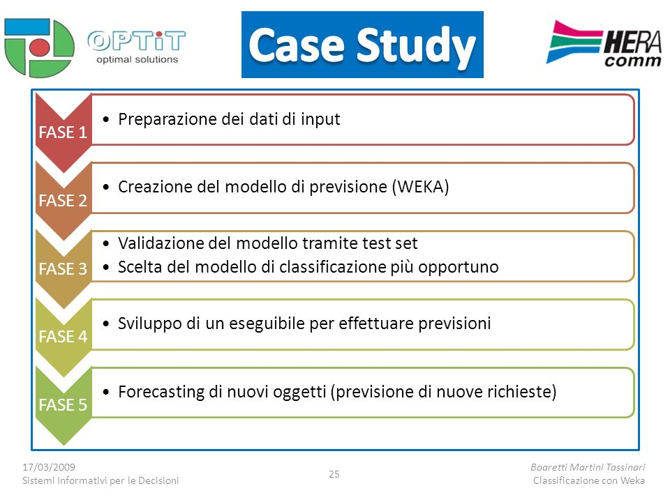 Case Study Preparazione dei dati di input