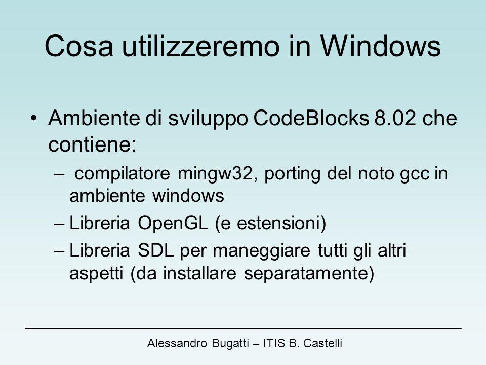 Cosa utilizzeremo in Windows