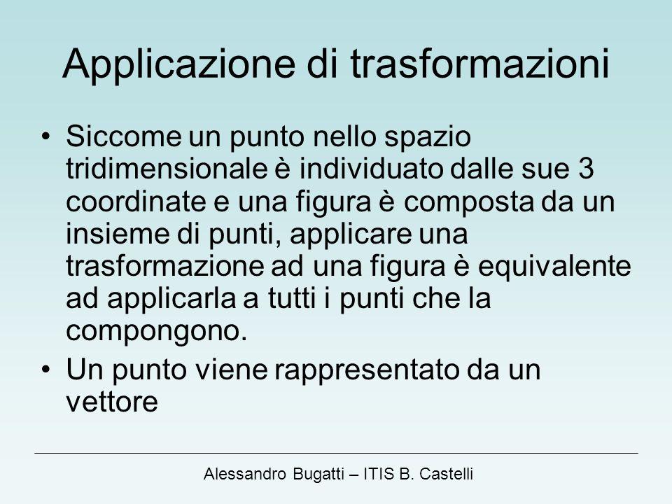 Applicazione di trasformazioni