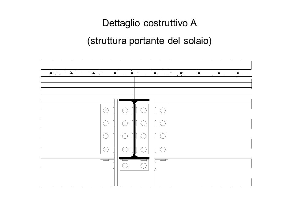 Dettaglio costruttivo A (struttura portante del solaio)