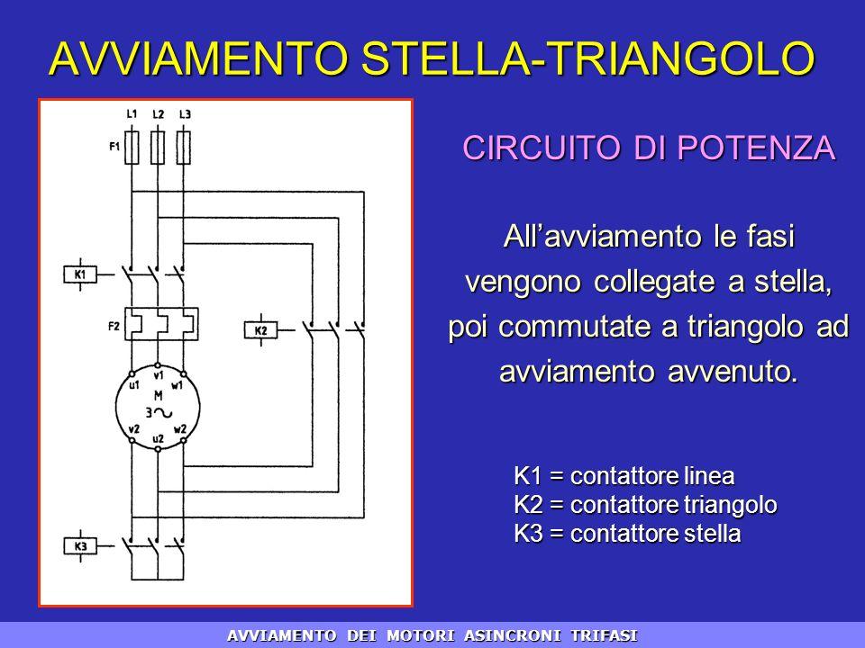 Schema Elettrico Stella Triangolo : Avviamento dei motori asincroni trifasi ppt scaricare