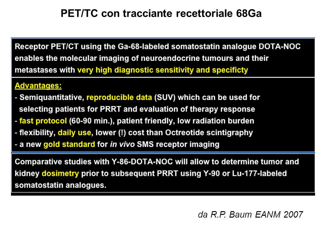 PET/TC con tracciante recettoriale 68Ga