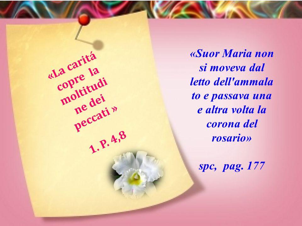 «Suor Maria non si moveva dal letto dell ammala