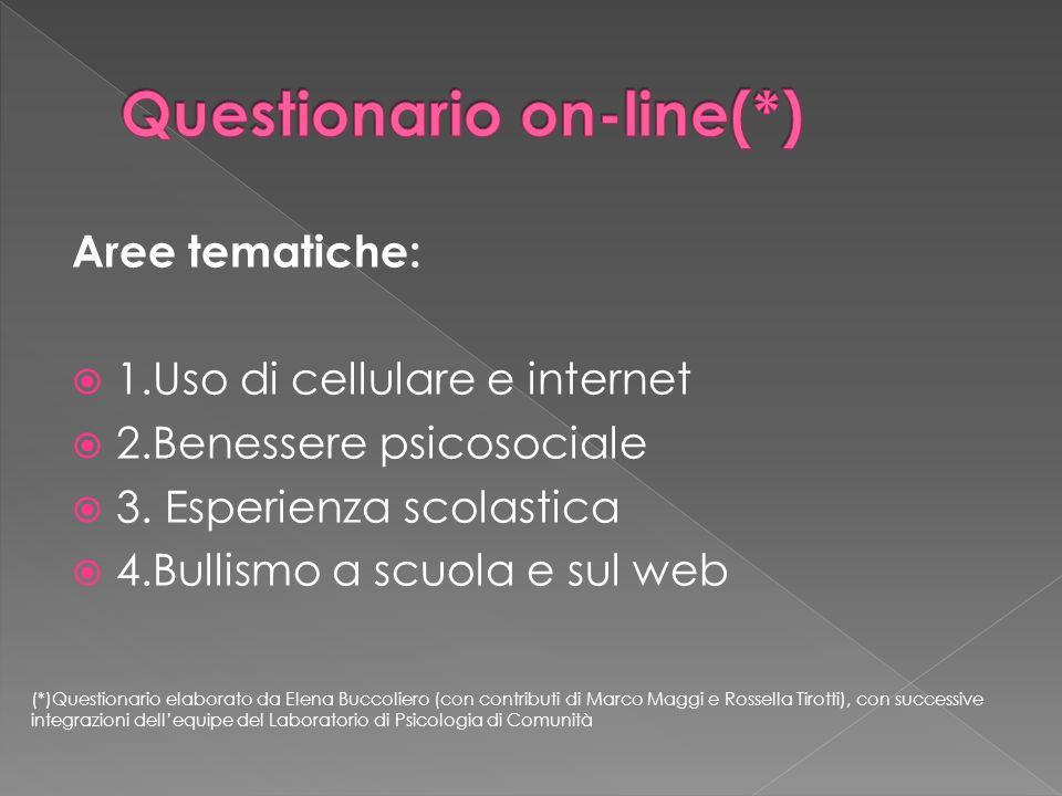 Questionario on-line(*)