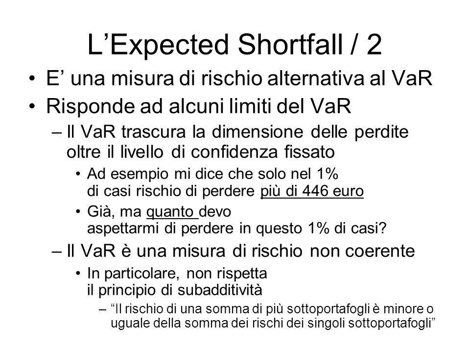 L'Expected Shortfall / 2
