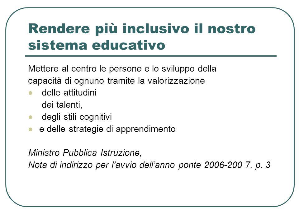 Rendere più inclusivo il nostro sistema educativo