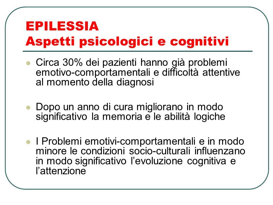 EPILESSIA Aspetti psicologici e cognitivi